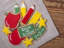 Πίσω στα σχολικά μπισκότα Στοκ φωτογραφία με δικαίωμα ελεύθερης χρήσης