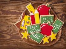 Πίσω στα σχολικά μπισκότα Στοκ Φωτογραφία