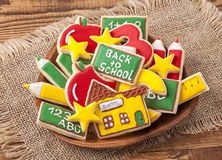 Πίσω στα σχολικά μπισκότα Στοκ εικόνα με δικαίωμα ελεύθερης χρήσης