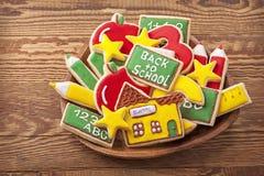 Πίσω στα σχολικά μπισκότα Στοκ Εικόνα