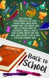 Πίσω στη διανυσματική αφίσα χαρτικών σχολικής γεωμετρίας Στοκ Φωτογραφίες