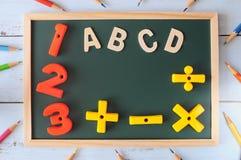 Πίσω στη σχολική έννοια και την ιδέα εκπαίδευσης Στοκ φωτογραφίες με δικαίωμα ελεύθερης χρήσης