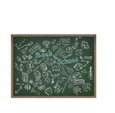Πίσω στη σχολική doodle απεικόνιση Στοκ Εικόνες