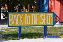 Πίσω στο σημάδι σκαφών Στοκ Εικόνα