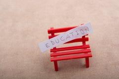 Πίσω στο σχολικό θέμα στην εκπαίδευση Στοκ εικόνες με δικαίωμα ελεύθερης χρήσης