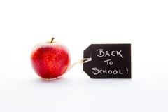 Πίσω στο σχολείο - η κόκκινη Apple Στοκ Εικόνες