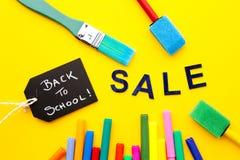 Πίσω στο σχολείο - πώληση Στοκ Εικόνα
