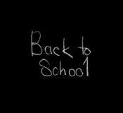 Πίσω στο σχολείο στον πίνακα κιμωλίας, που απομονώνεται, μαύρο Στοκ Φωτογραφίες