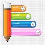Πίσω στο σχολείο Infographic, διανυσματική εργασία Στοκ Εικόνα