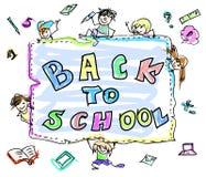Πίσω στο σχολικό χρώμα doodles Στοκ Φωτογραφίες