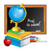 πίσω σχολείο απεικόνιση&sig Στοκ εικόνα με δικαίωμα ελεύθερης χρήσης