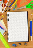 πίσω σχολείο εξαρτημάτων Στοκ εικόνες με δικαίωμα ελεύθερης χρήσης