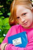 πίσω σχολείο κοριτσιών Στοκ εικόνες με δικαίωμα ελεύθερης χρήσης