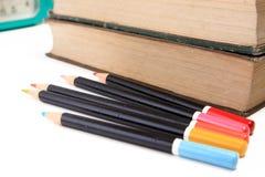 πίσω σχολείο μολυβιών ένν&omi Στοκ φωτογραφίες με δικαίωμα ελεύθερης χρήσης