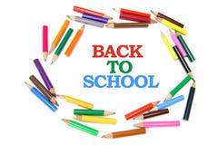πίσω σχολείο μολυβιών χρώ&m Στοκ φωτογραφία με δικαίωμα ελεύθερης χρήσης