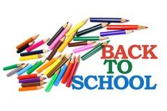 πίσω σχολείο μολυβιών χρώ&m Στοκ εικόνες με δικαίωμα ελεύθερης χρήσης