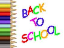 πίσω σχολείο μολυβιών στοκ φωτογραφία με δικαίωμα ελεύθερης χρήσης