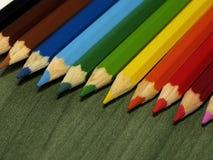 πίσω σχολείο έννοιας μολύβια χρώματος ξύλινα Στοκ Εικόνες