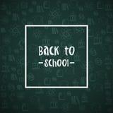 πίσω σχολείο ανασκόπησης επίσης corel σύρετε το διάνυσμα απεικόνισης Σύσταση Grunge Εικονίδια ύφους Doodle Πίσω στη σχολική ταπετ Στοκ Φωτογραφία