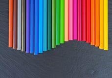 πίσω σχολείο μολυβιών Στοκ εικόνες με δικαίωμα ελεύθερης χρήσης