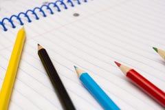 πίσω σχολείο χαρτικά σημειωματάριο Στοκ Φωτογραφίες