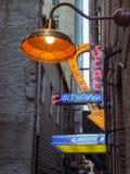 Πίσω σύμμαχος Fort Worth Τέξας σημαδιών νέου σαλονιών της Jazz στοκ φωτογραφία με δικαίωμα ελεύθερης χρήσης