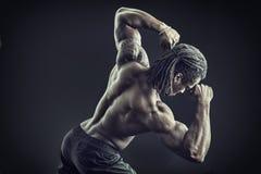 Πίσω του ατόμου αφροαμερικάνων bodybuilder Στοκ εικόνες με δικαίωμα ελεύθερης χρήσης