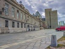 Πίσω του Μόντρεαλ Δημαρχείο στοκ εικόνα με δικαίωμα ελεύθερης χρήσης