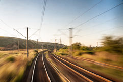 Πίσω του τραίνου Στοκ φωτογραφία με δικαίωμα ελεύθερης χρήσης