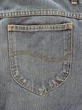 πίσω τσέπη τζιν παντελόνι Στοκ Φωτογραφίες