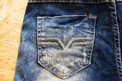 Πίσω τσέπη τζιν, σχέδιο μόδας Στοκ Εικόνες