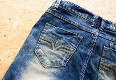 Πίσω τσέπη τζιν, σχέδιο μόδας Στοκ εικόνα με δικαίωμα ελεύθερης χρήσης