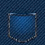πίσω τσέπη τζιν απεικόνιση αποθεμάτων
