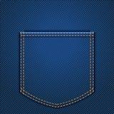Πίσω τσέπη τζιν διανυσματική απεικόνιση