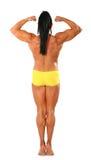 πίσω τόπλες γυναίκα bodybuider Στοκ Φωτογραφία