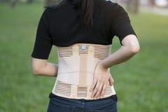 Πίσω υποστήριξη για την πλάτη μυών Στοκ Εικόνα