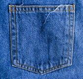 Πίσω υπόβαθρο σύστασης τσεπών τζιν παντελόνι Στοκ φωτογραφίες με δικαίωμα ελεύθερης χρήσης