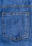 Πίσω υπόβαθρο σύστασης τσεπών τζιν παντελόνι Στοκ Εικόνες