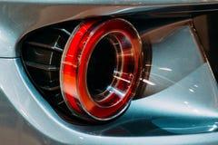 Πίσω φω'τα του αθλητικού αυτοκινήτου Στοκ Εικόνες