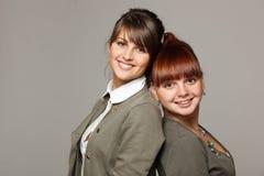 πίσω χαμόγελο κοριτσιών π&omi Στοκ Εικόνες