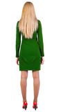 πίσω όμορφη ξανθή μόνιμη γυναίκα όψης Στοκ Εικόνες