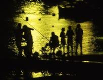 πίσω familiy φως αλιείας στοκ εικόνες με δικαίωμα ελεύθερης χρήσης
