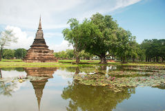 πίσω sukhothai mahathat wat Στοκ Φωτογραφίες