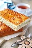 Πίτα λάχανων και σπόλα του τσαγιού Στοκ εικόνα με δικαίωμα ελεύθερης χρήσης