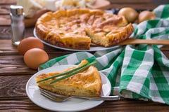 Πίτα λάχανων με το κρεμμύδι Στοκ Εικόνες