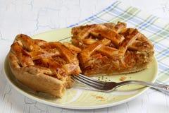 Πίτα λάχανων στο πιάτο πιατικών Στοκ Φωτογραφία