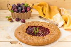 Πίτα δαμάσκηνων Στοκ φωτογραφία με δικαίωμα ελεύθερης χρήσης