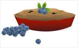 Πίτα βακκινίων με τα βακκίνια διανυσματική απεικόνιση
