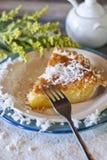 Πίτα βουτυρογάλατος καρύδων Στοκ Φωτογραφίες