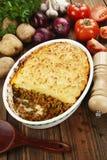 Πίτα εξοχικών σπιτιών με το κρέας Στοκ εικόνες με δικαίωμα ελεύθερης χρήσης